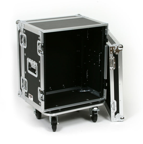 OSP Deluxe ATA 12 Space 12U Effects Road Tour Rack Flight Case with Casters