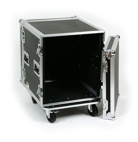 OSP ATA 12 Space 12U Amplifier Road Tour Flight Rack Case w/Casters