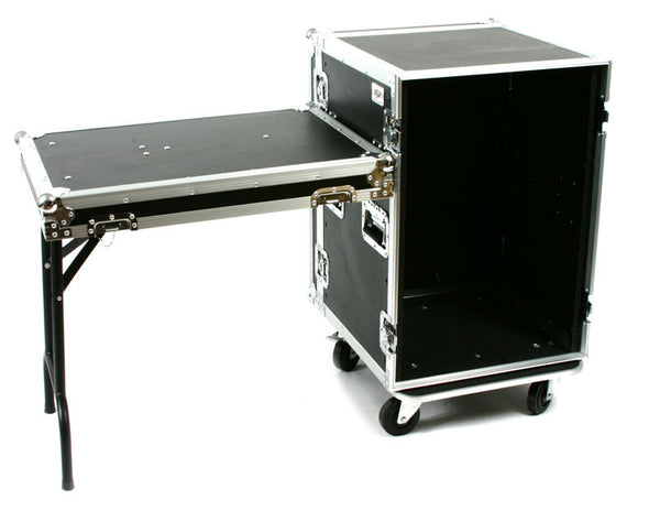 "OSP RC16U-20SL 16 Space ATA Amp Rack Flight Case 19"" Wide 20"" Deep"
