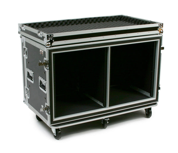 OSP SC12U-20SXS 24 Space ATA Side by Side Amp Rack