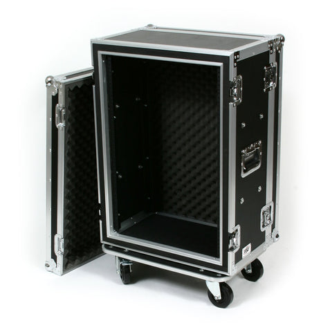 "OSP SC16U-12 16 Space 16 U ATA Shock Effects Flight Rack Case 19"" Wide 12"" Deep"