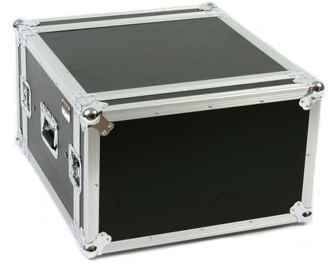 "OSP SC6U-20 6 Space 6 U ATA Shock Amp Flight Rack Case 19"" Wide 20"" Deep"