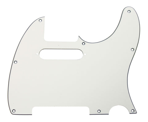 920D CS Parchment 3 Ply Strat Cut Pickguard for Fender Tele CNC Precision Cut
