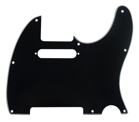 920D CS Black 3 Ply Pickguard for Fender Telecaster Tele CNC Precision Cut