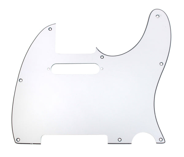 920D CS White 3 Ply Pickguard for Fender Telecaster Tele CNC Precision Cut