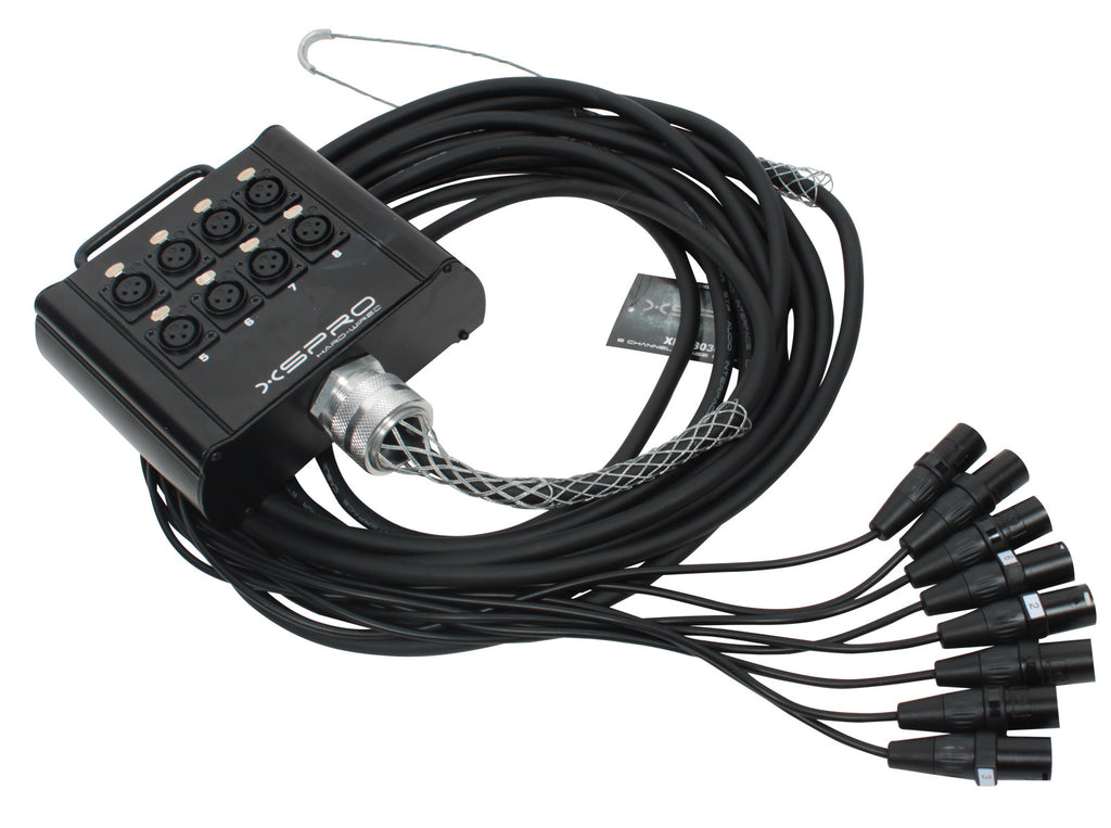 XSPRO 8 Channel 30\' Pro Drop Extension XLR Snake Cable 8x30 – Sigler ...