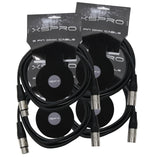 XSPRO XSPDMX3P10 3 Pin DMX Light Cable 10' - 4PAK