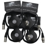 XSPRO XSPDMX3P5 3 Pin DMX Light Cable 5' - 4PAK