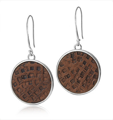 Leather Up! (Grid) Earrings