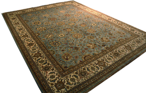 8' x 10' Double-knotted Indian Jaipur Wool Rug - Main Street Oriental Rugs