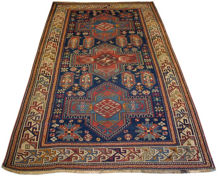 Antique Russian Kazak Area Rug | Main Street Oriental Rugs