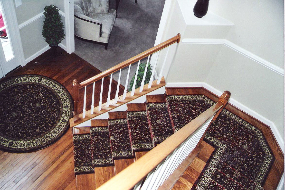 Angled Stair Runner Installation - Main Street Oriental Rugs