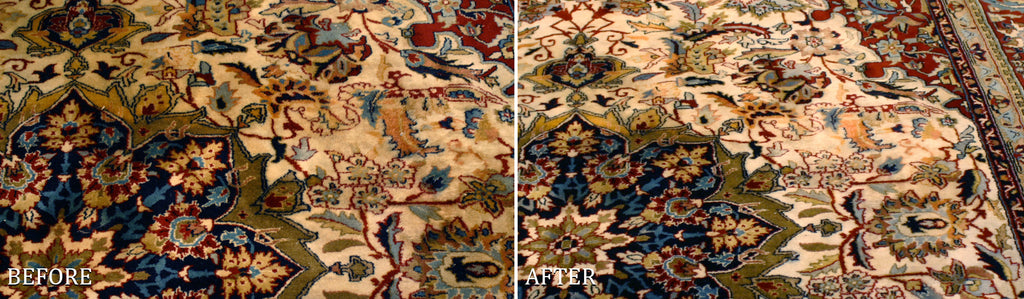 Area rug dying for discoloration