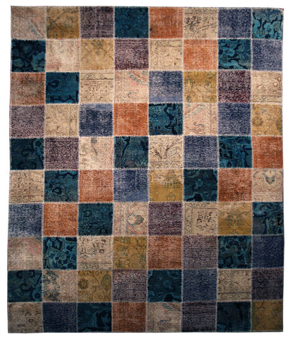 "7'10"" x 9'11"" Patchwork Modern Area Rug - Main Street Oriental Rugs"