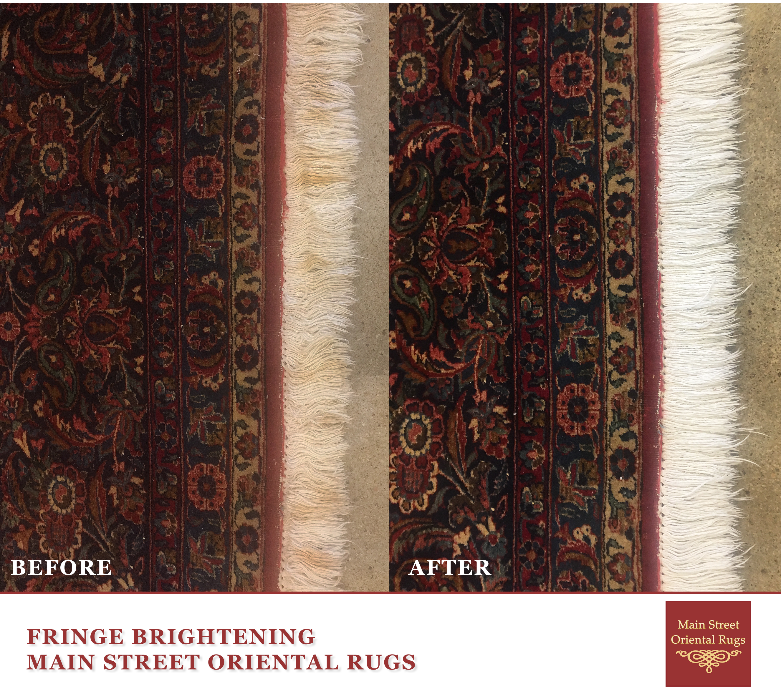 Area rug fringe cleaning