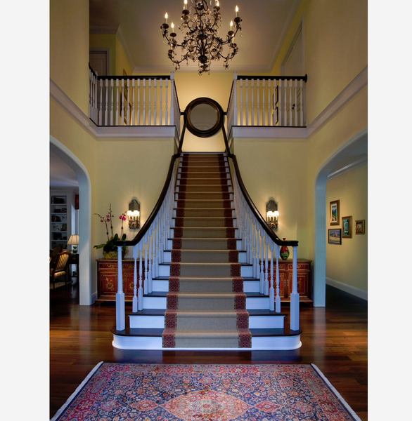 Entry way with stair runner