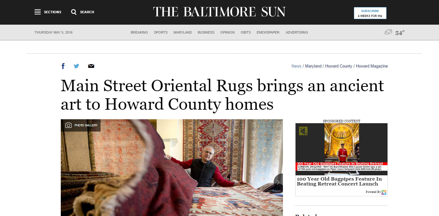Main Street Oriental Rugs - Howard Magazine / BaltimoreSun.com