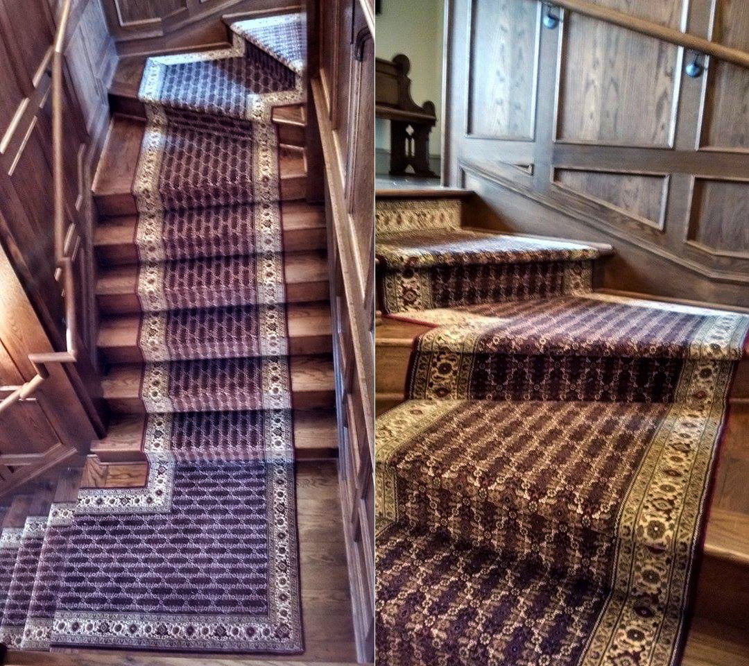 Custom Stair Runner Installation