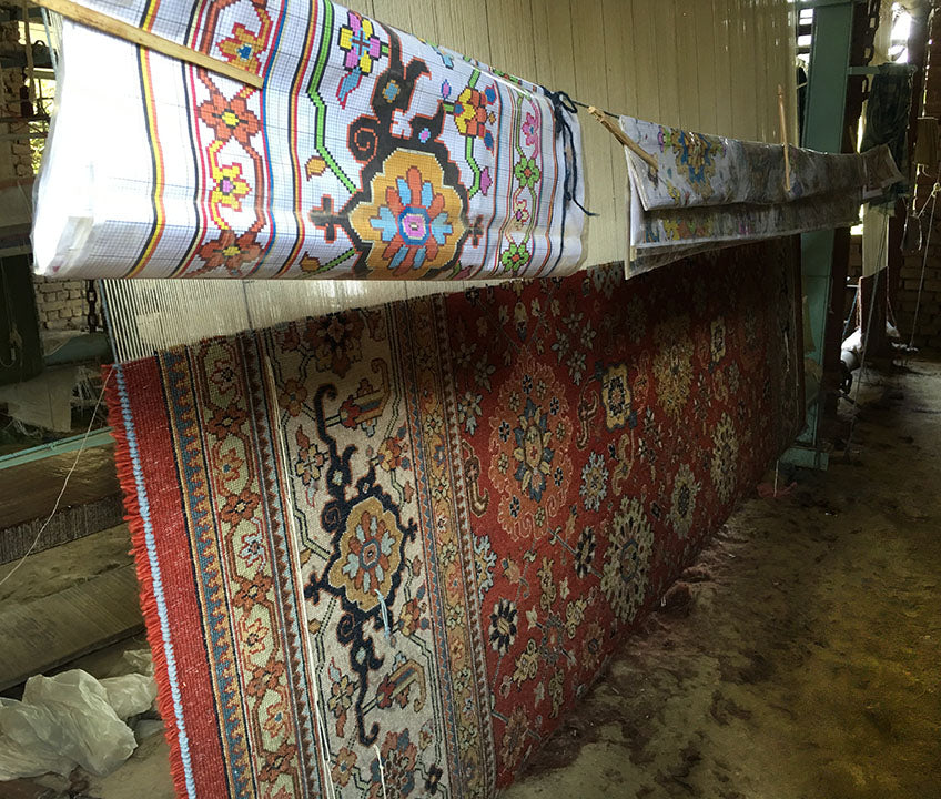 A partially completed rug - Main Street Oriental Rugs