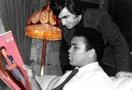 Muhammad Ali with poet Aref