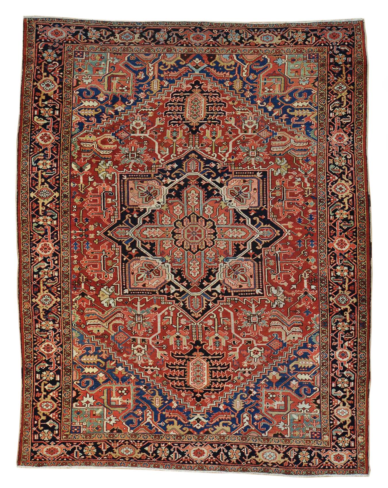 10'x13' Antique Persian Heriz Rug - Main Street Oriental Rugs