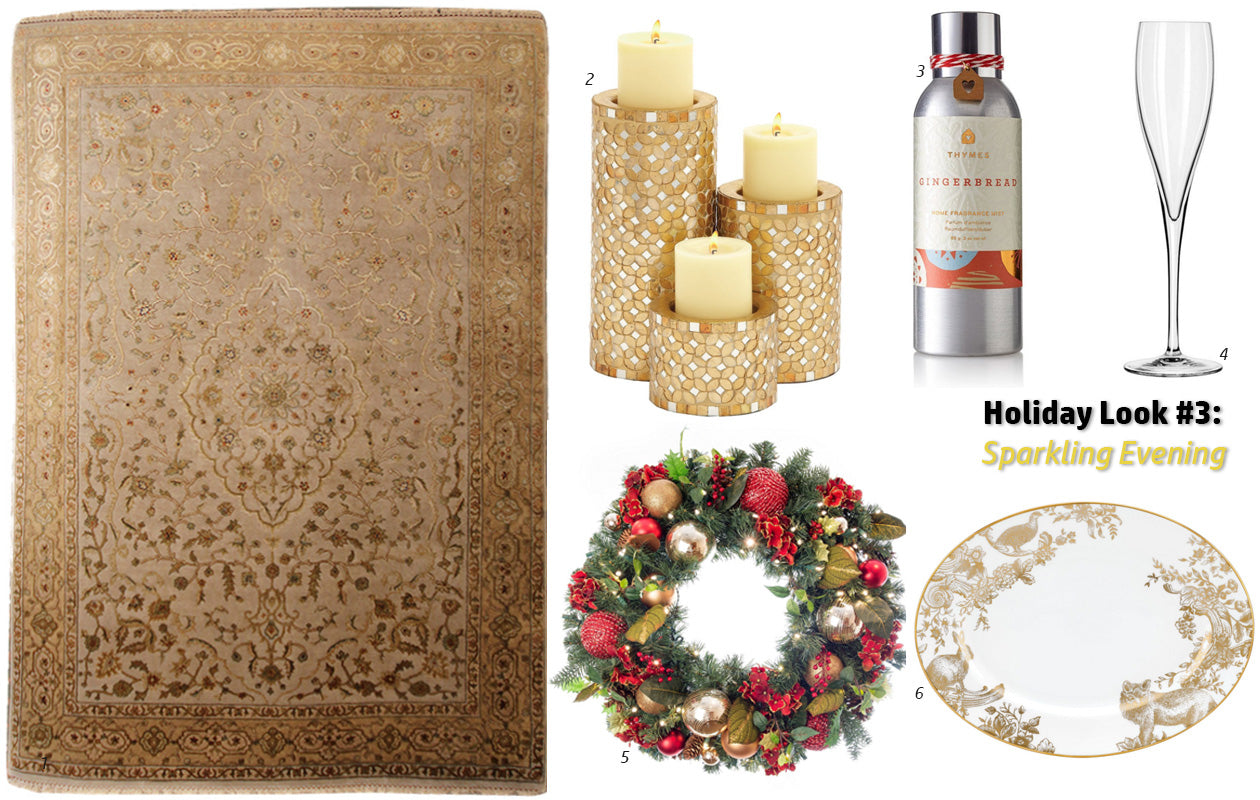Holiday 2015 Look #3: Sparkling Evening - Main Street Oriental Rugs