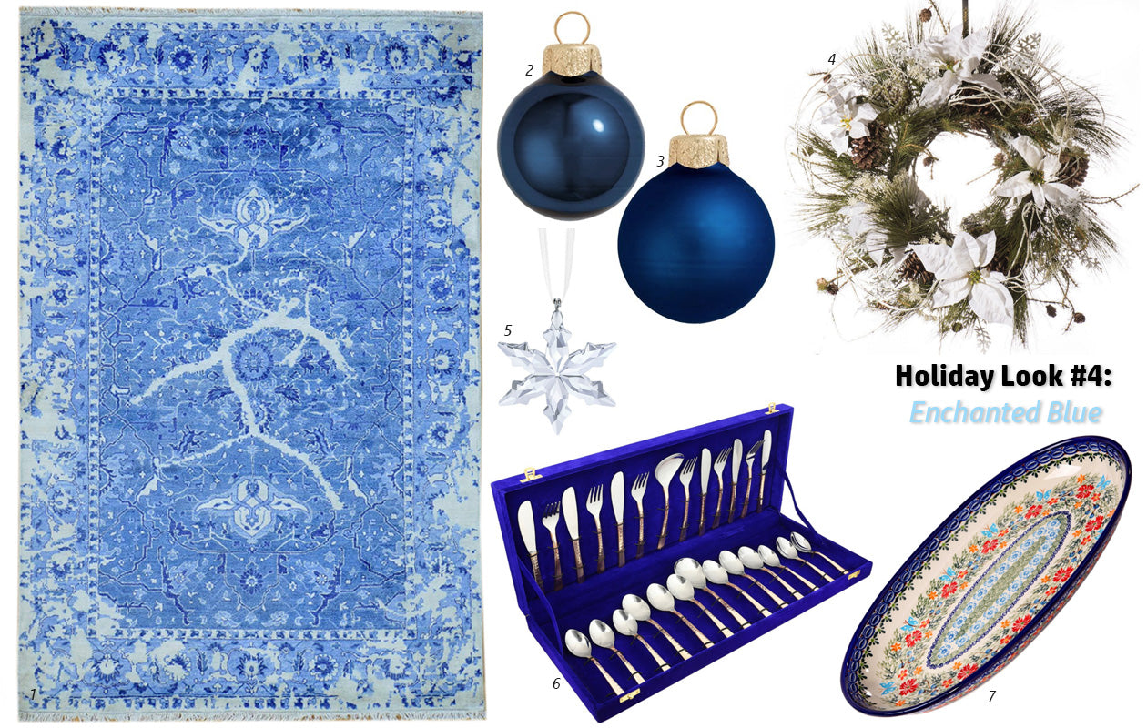 Holiday 2015 Look #4: Enchanted Blue - Main Street Oriental Rugs