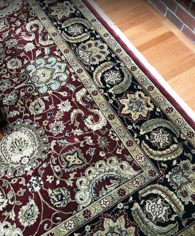 Hand-knotted wool rug in Maryland home
