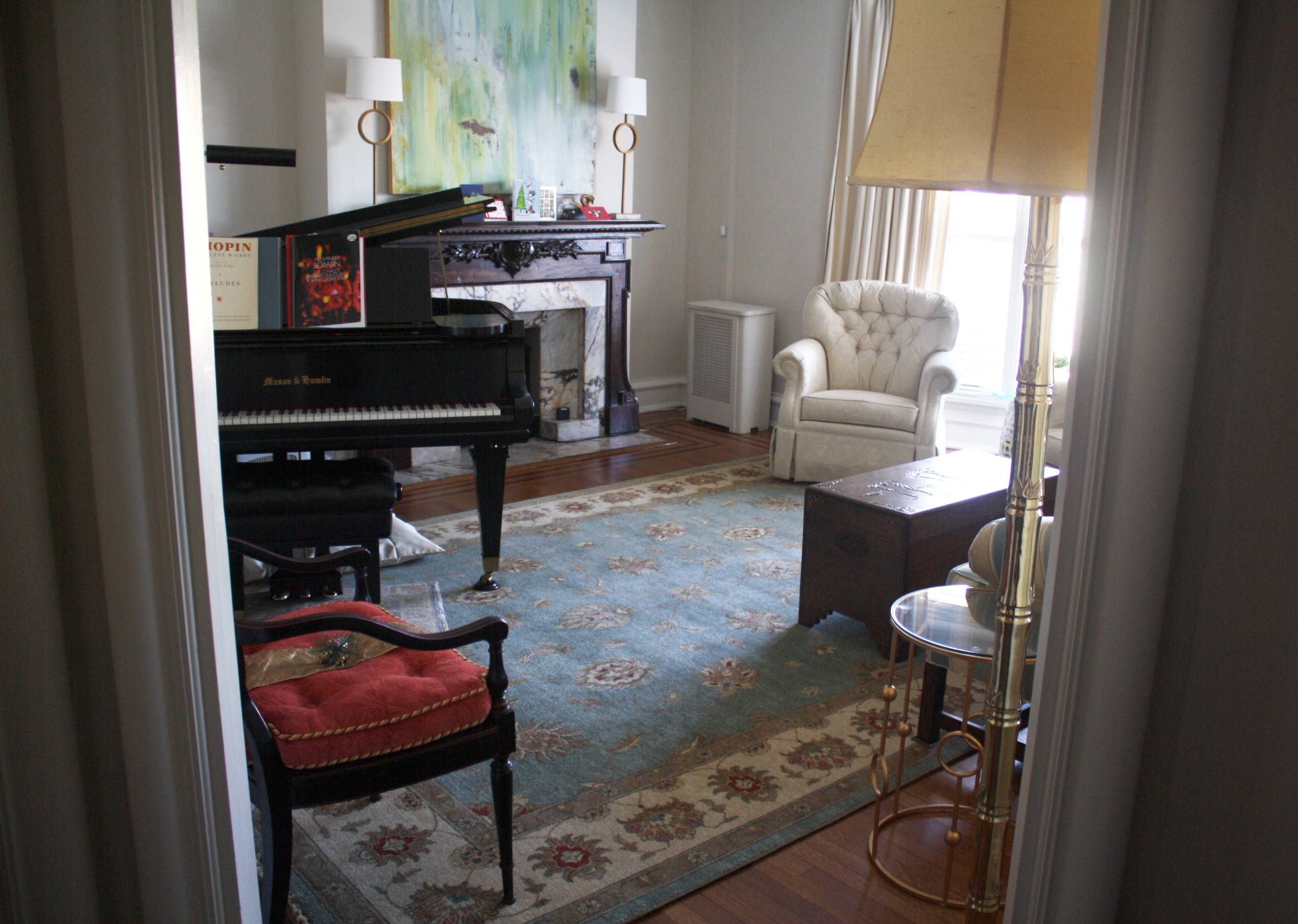 Interior design with Mahal rug