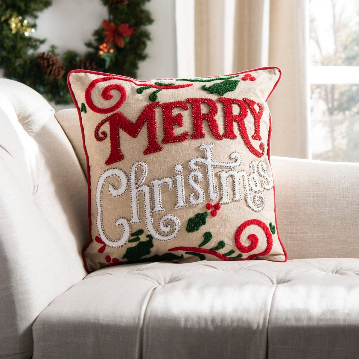 "Safavieh ""Merry Merry"" pillow"