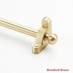 Stair rod with cushion finial - brushed brass