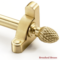 Stair rod with pineapple finial - brushed brass