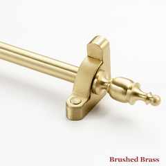 Stair rod with vase finial - brushed brass