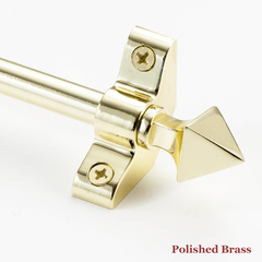Stair rod with point finial - polished brass