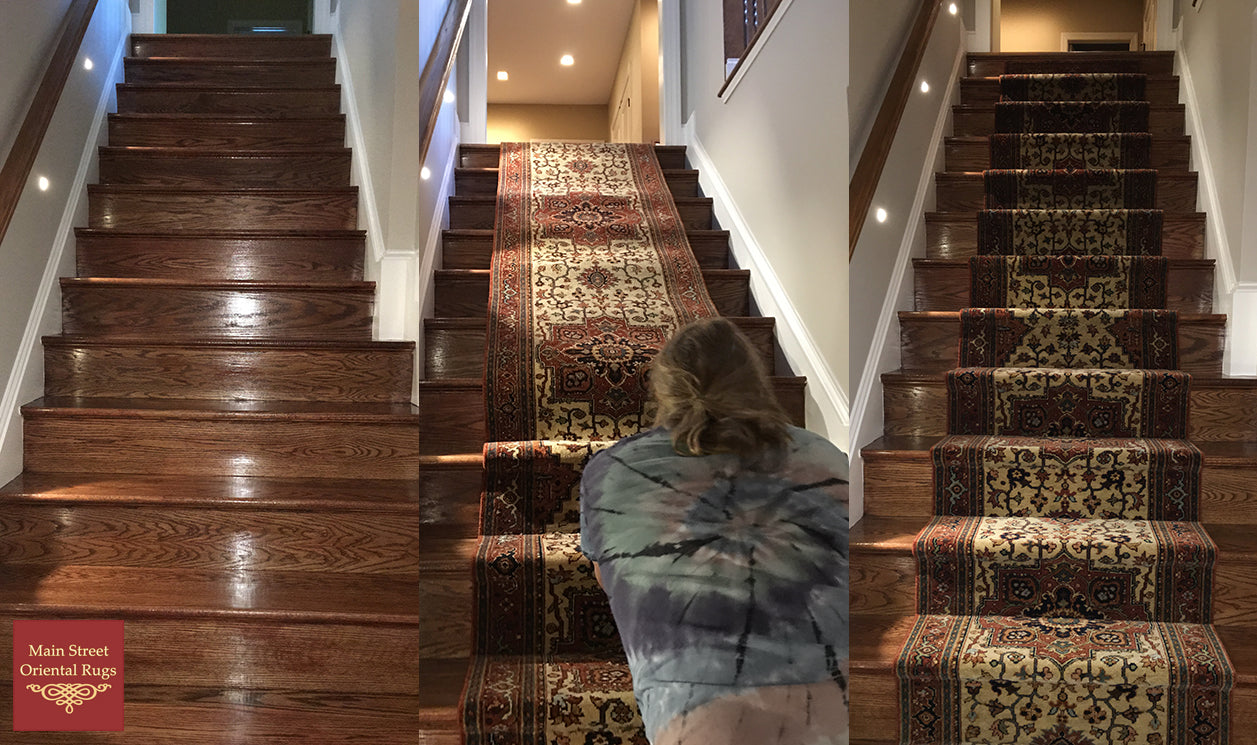 stair runner installation process