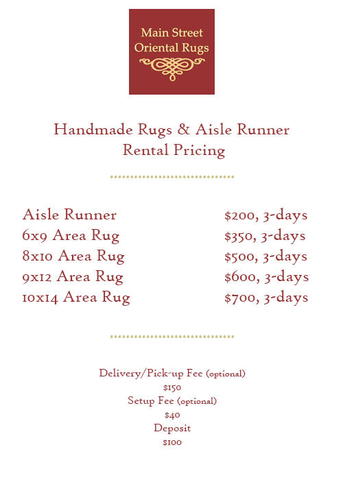 Rug Rental Price List - Main Street Oriental Rugs
