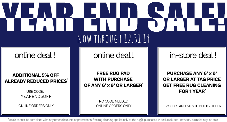 Year End Sale 2019 | Main Street Oriental Rugs