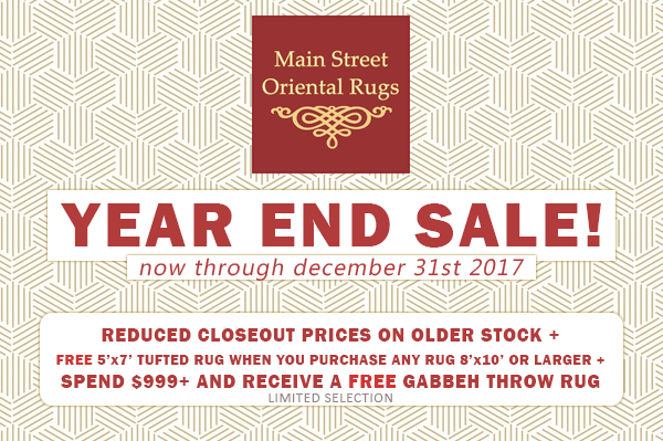 Main Street Oriental Rugs - Year End Sale 2017