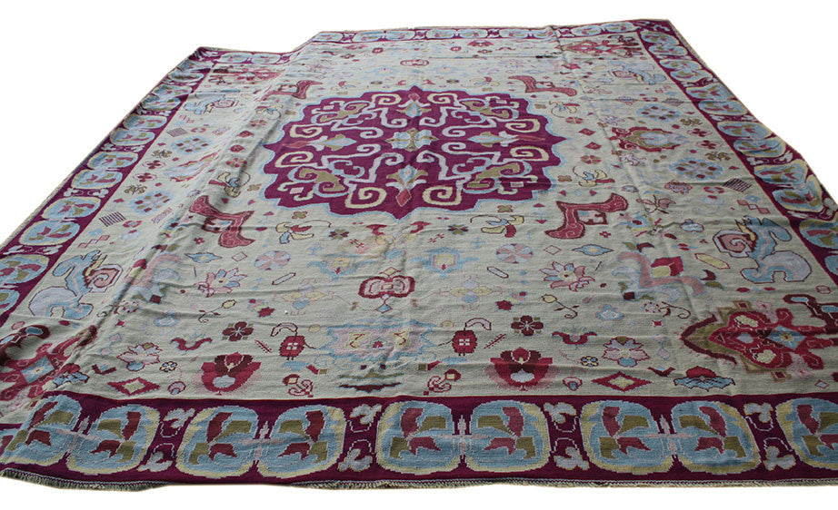 13x15 Portuguese Needlepoint - Main Street Oriental Rugs - 1