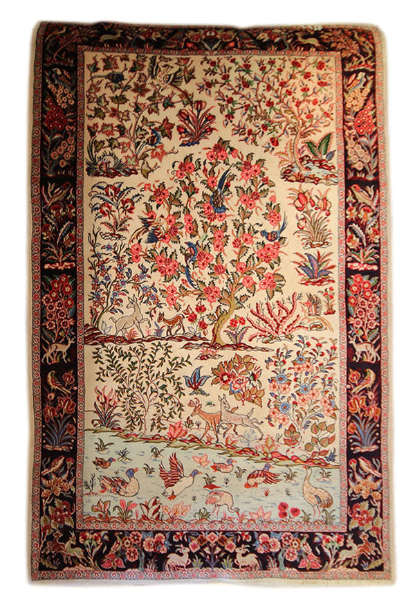 4.4x6.11 Tree of Life - Main Street Oriental Rugs