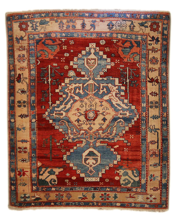 5x6.2 Turkish Azure - Main Street Oriental Rugs