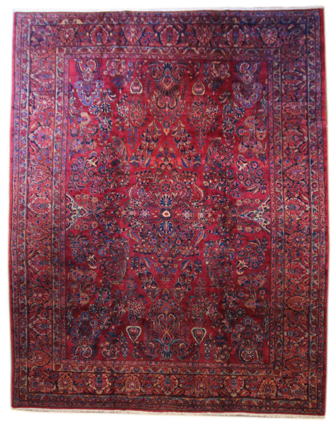 8.8x11.11 Antique Persian Sarouk - Main Street Oriental Rugs