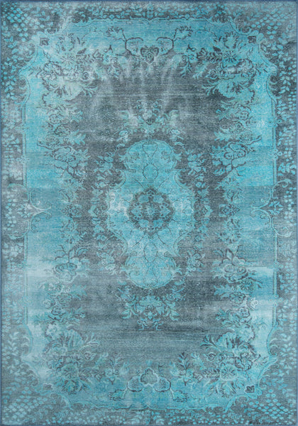 Momeni Afshar over dyed rug