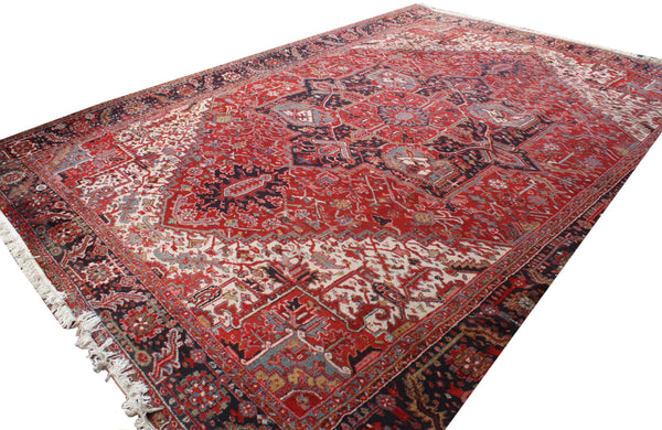 11.2x14.9 Antique Persian Heriz