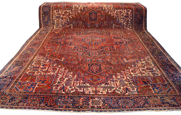 10x13.4 Antique Persian Heriz