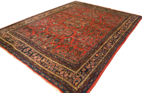8.8x11.8 Antique Persian Sarouk