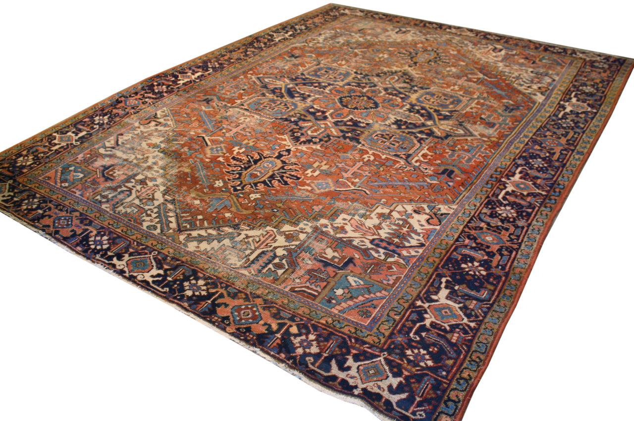 8.7x11.5 Antique Persian Heriz