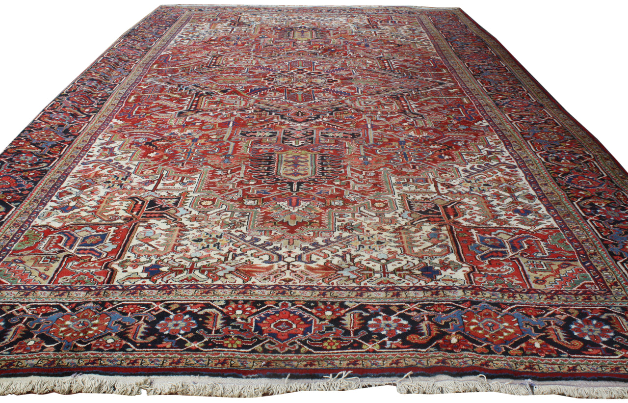 11.5x19.7 Antique Persian Heriz
