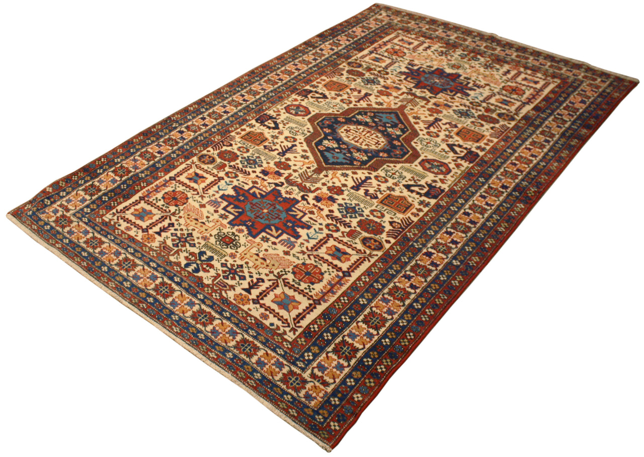 4.7x7.5 Antique Persian Ardabil