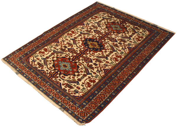 3.8x4.10 Antique Persian Kashkuli